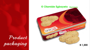 Spice Aphrodisiac biscuit packaging by Olamide Egbayelo