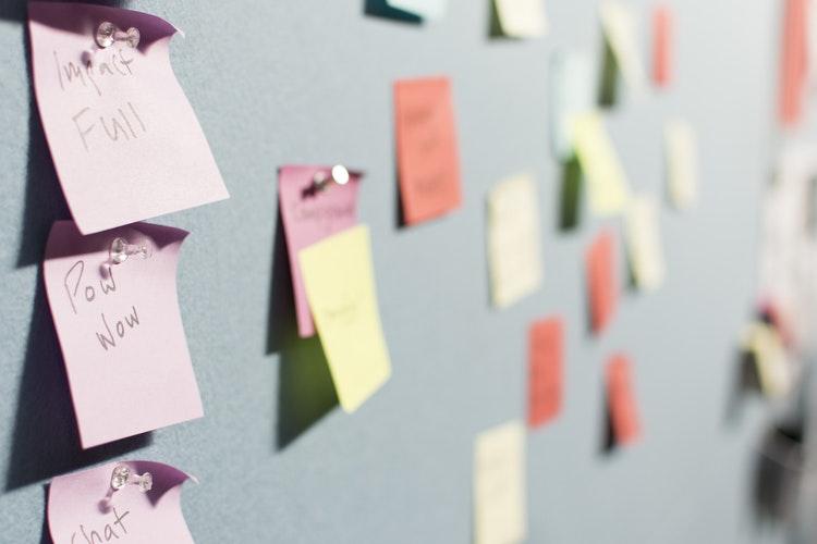 Non profit communications strategy sticky note